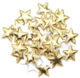 Glitter Padded Star Applique - Gold - shabbyflowers.com