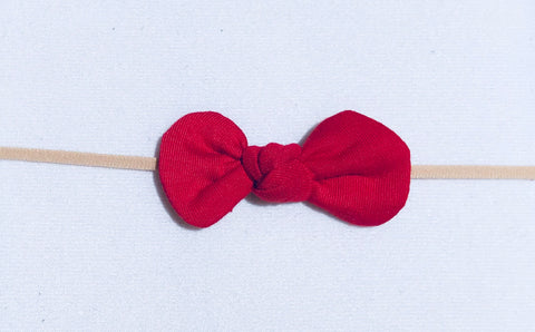 Nylon Knot Headband - Red