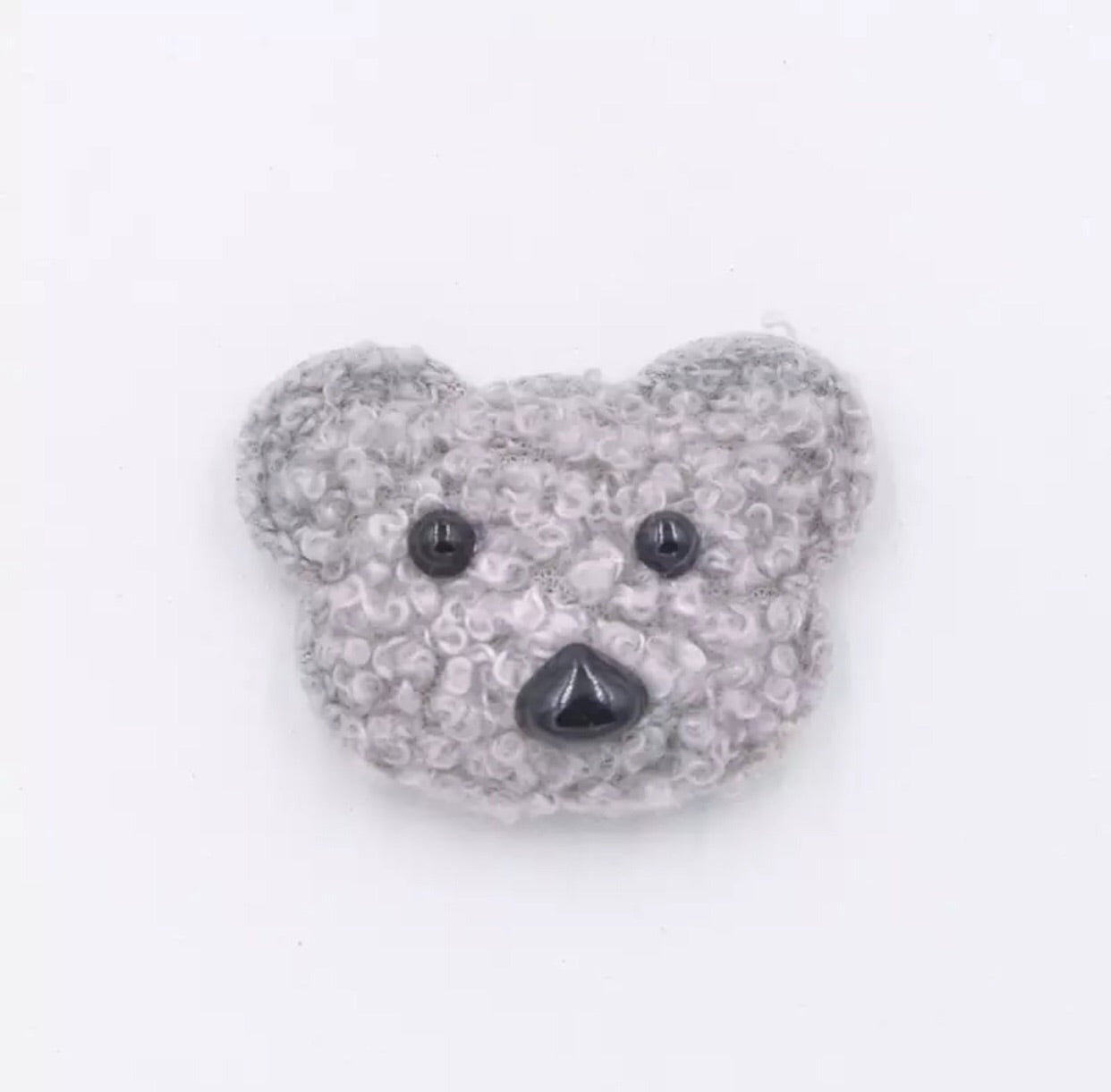 Bear Plush Applique - Choose Your Color - shabbyflowers.com