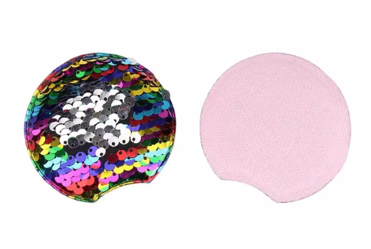 Reversible Sequin Padded Mouse Ears - Rainbow