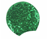 Sequin Padded Mouse Ears Adult Size- Green