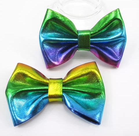 Medium Solid Soft Metallic Bow - Multicolor