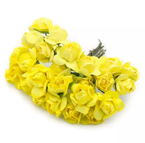 "Paper Flowers - 3/4"" Yellow"