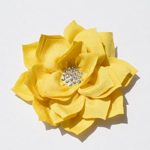 Lotus Rhinestone Flower - Yellow Gold