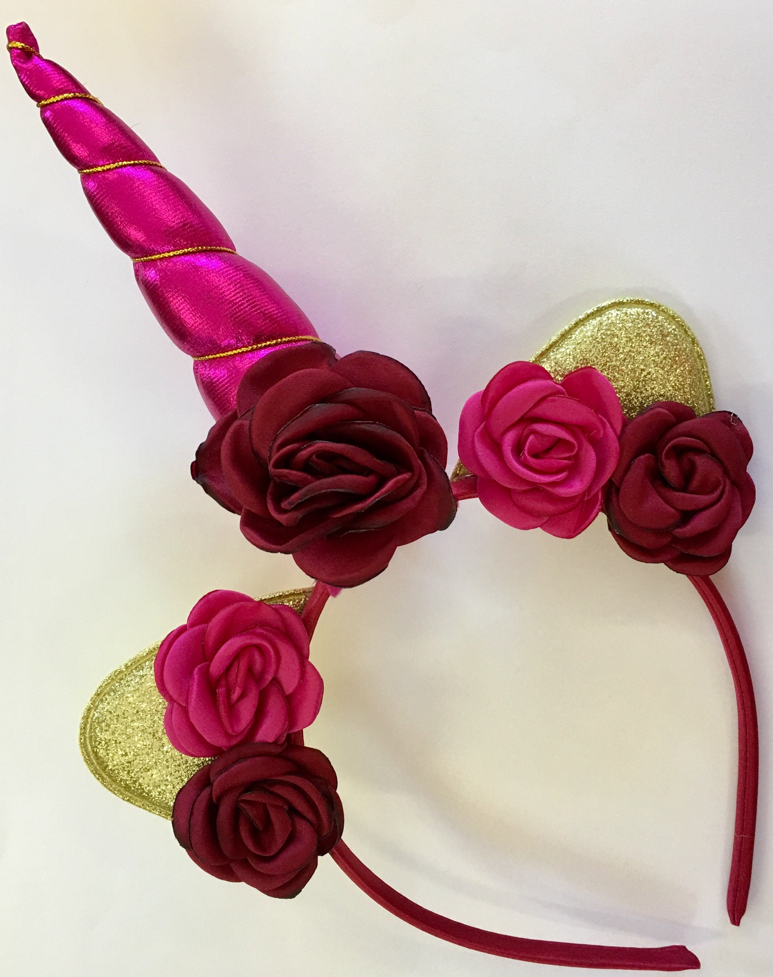 Unicorn Horn Headband Kit - Hot Pink - shabbyflowers.com