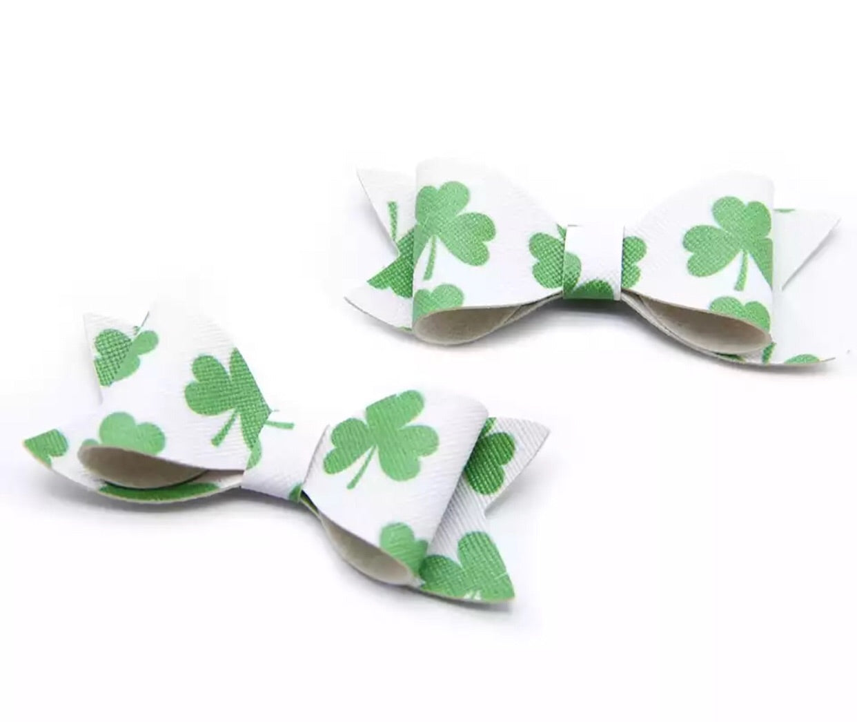 Faux Leather Bow - Shamrock - shabbyflowers.com