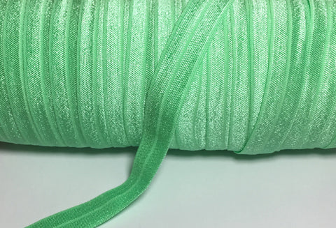 Solid Foldover Elastic - Spring Green