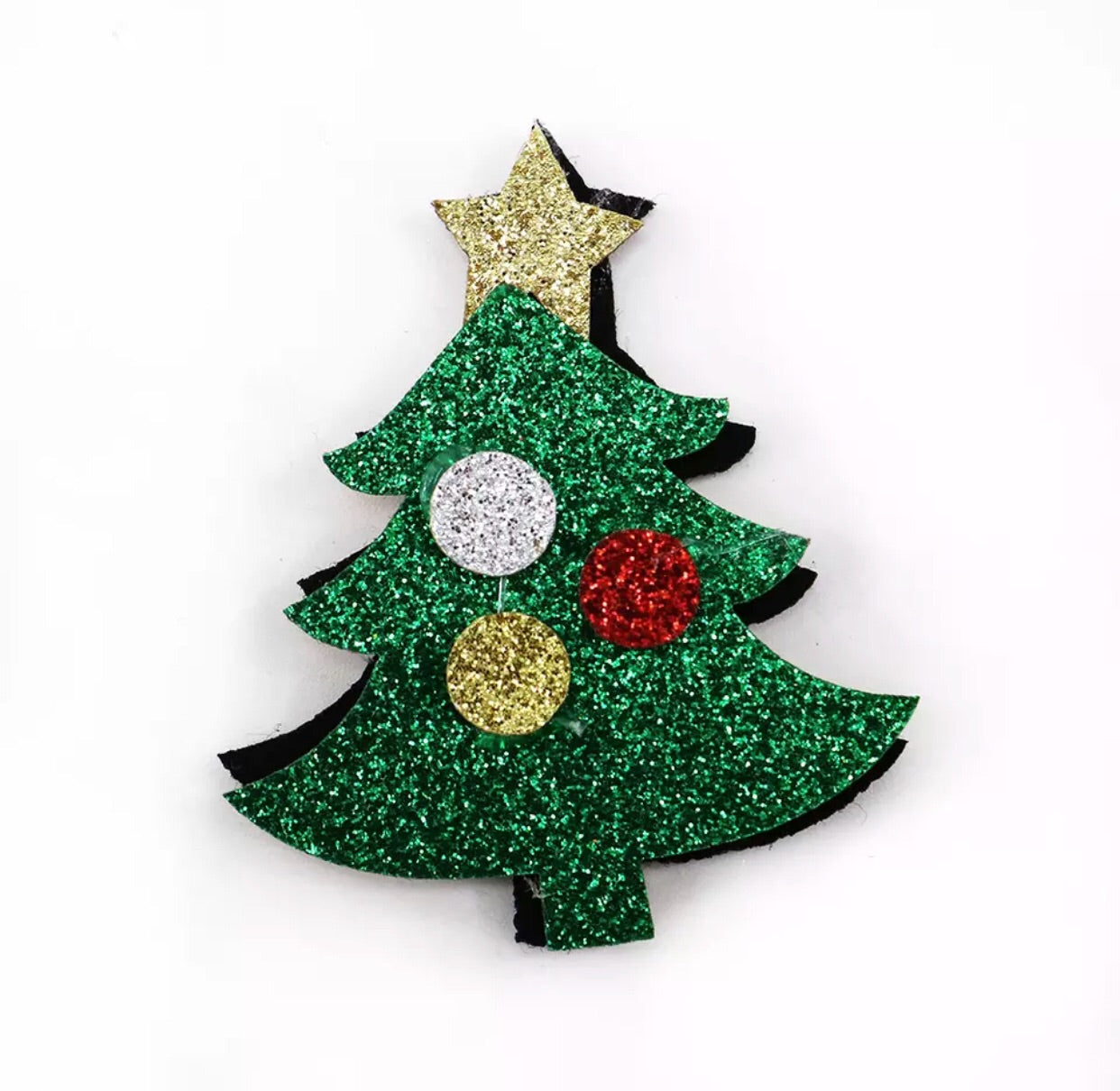Christmas Tree Felt Appliqué - shabbyflowers.com