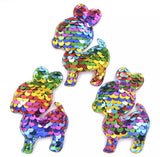 Reversible Sequin Padded Deer Applique - shabbyflowers.com