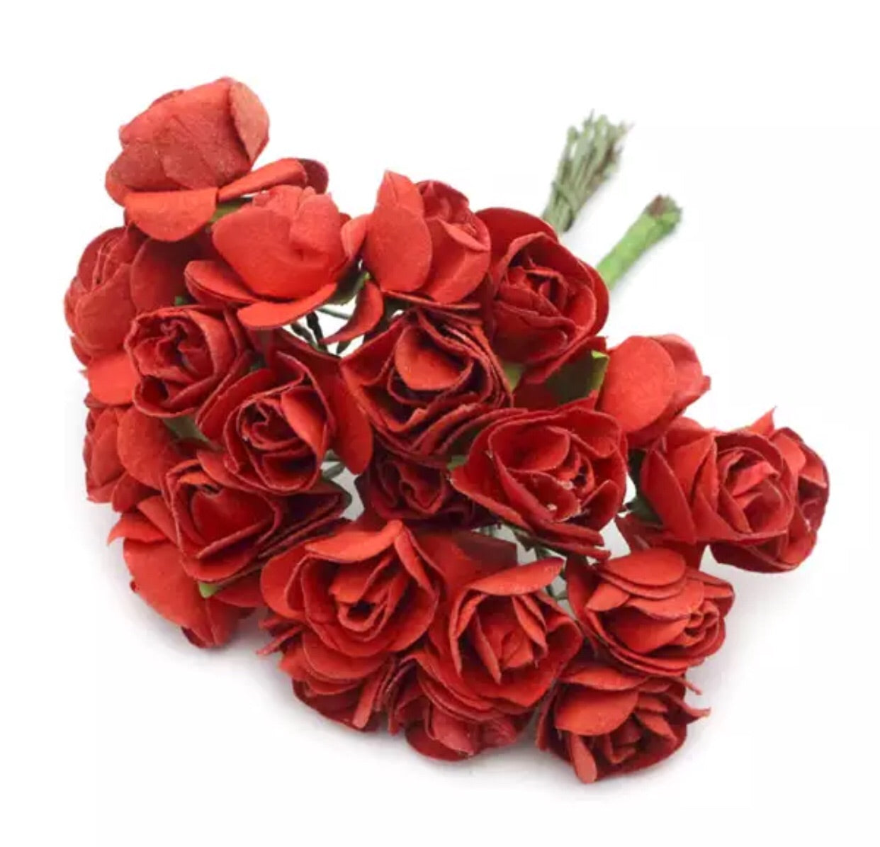 "Paper Flowers - 5/8"" Red - shabbyflowers.com"