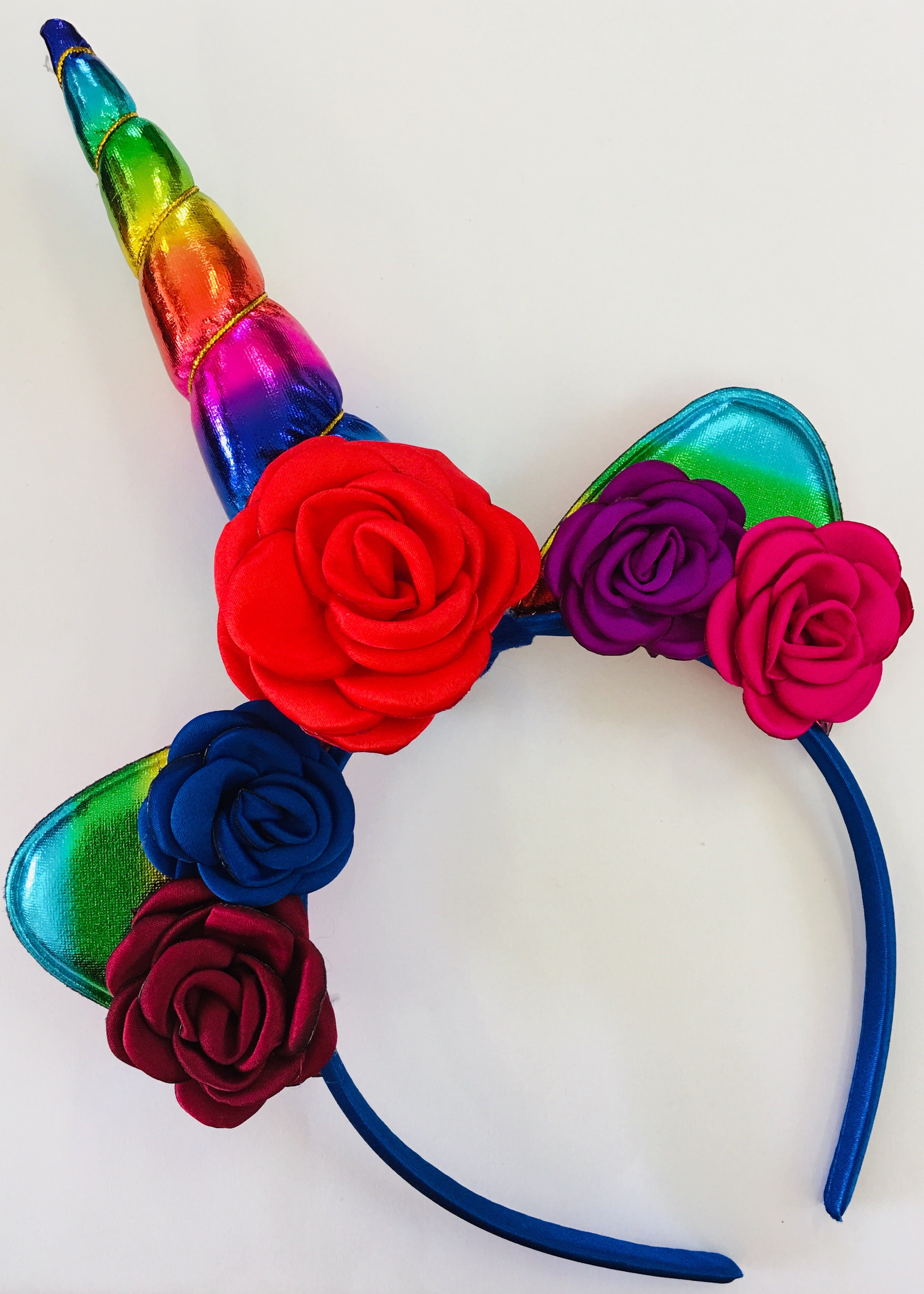 Unicorn Horn Headband Kit - Rainbow - shabbyflowers.com