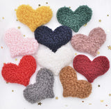 Heart Plush Applique - Choose Your Color - shabbyflowers.com