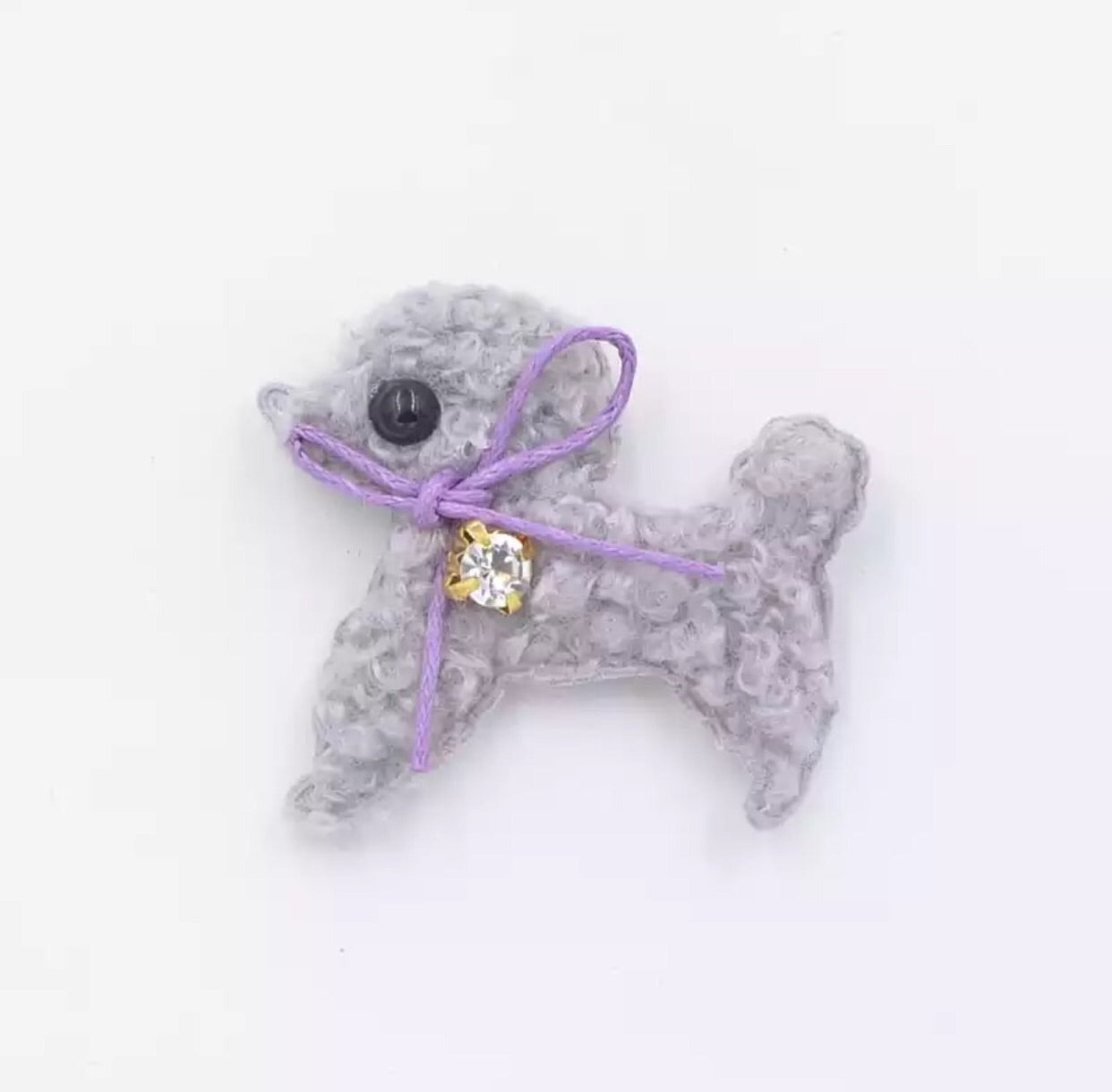 Doggy Plush Applique - Choose Your Color - shabbyflowers.com