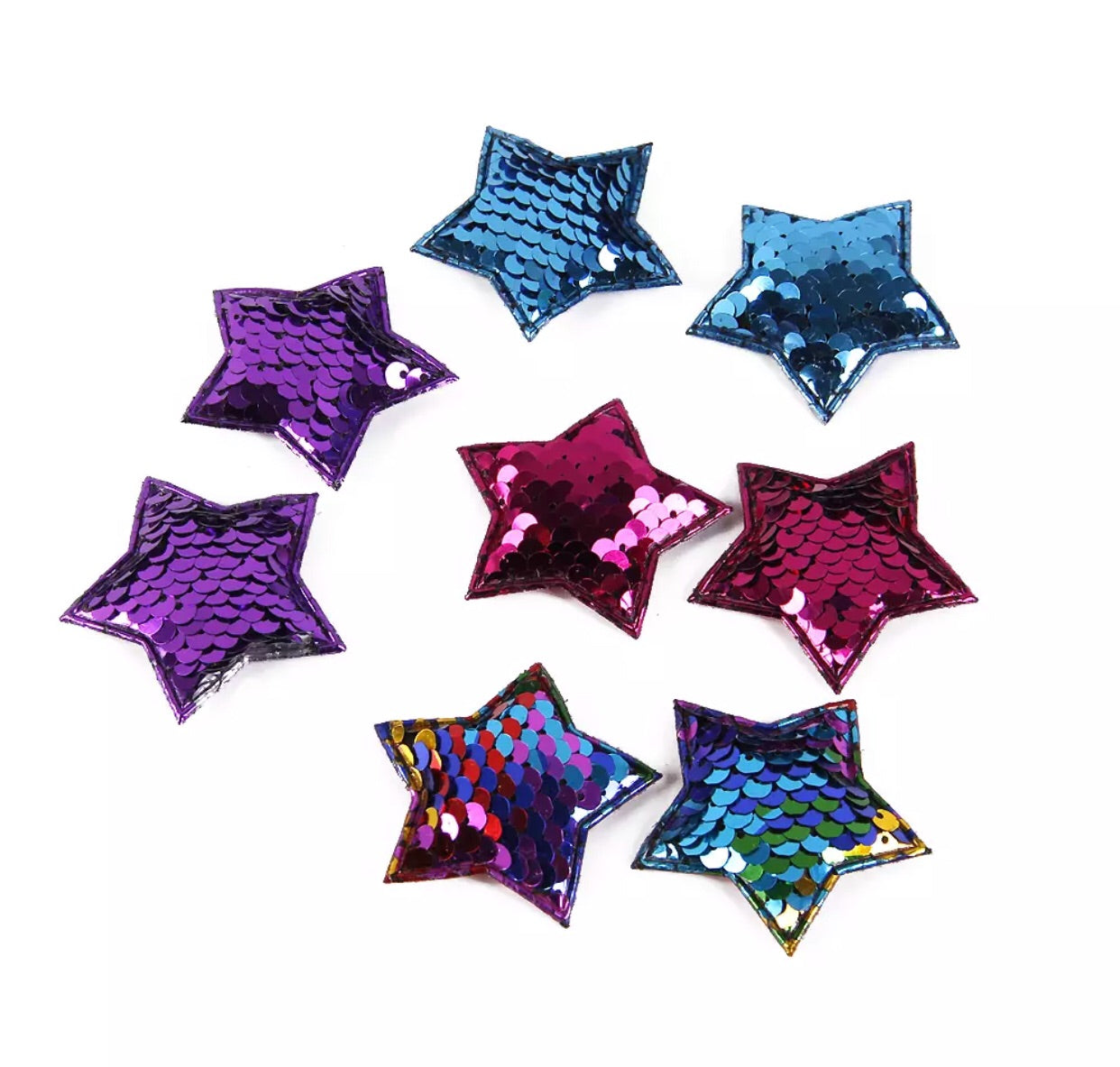Reversible Sequin Padded Stars - shabbyflowers.com