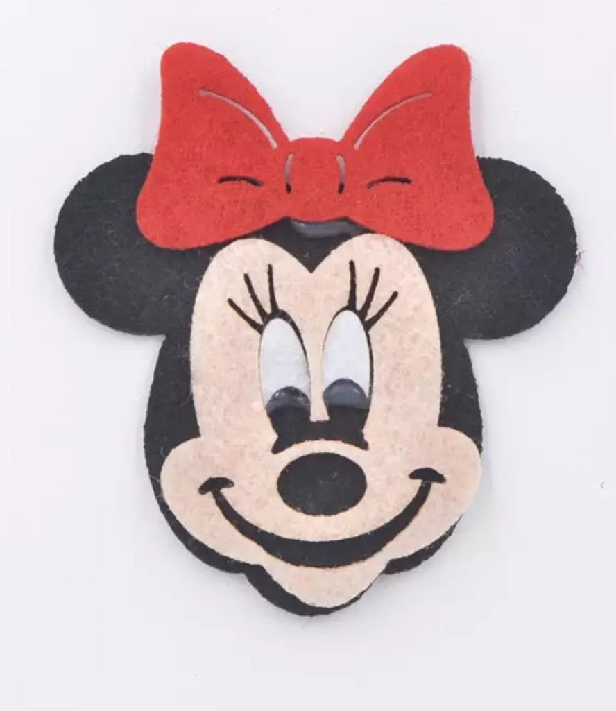 Minnie Mouse Felt Appliqué - shabbyflowers.com