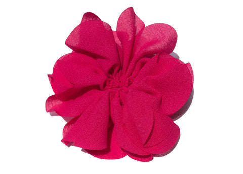 Large Scalloped Flower - Hot Pink