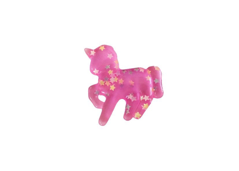 Unicorn resin - hot pink with glitter stars