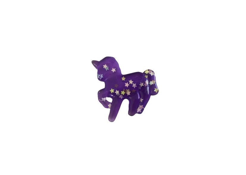 Unicorn resin - purple with glitter stars - shabbyflowers.com