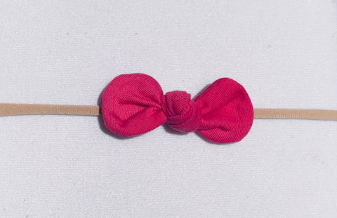 Nylon Knot Headband - Hot Pink