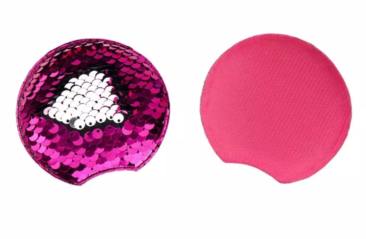 Reversible Sequin Padded Mouse Ears - Hot Pink