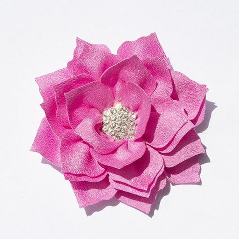 Lotus Rhinestone Flower - Barbie Pink