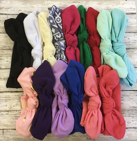 Knot Headbands Pack of 15 - Choose Your Size