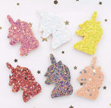 Glitter Unicorn Applique - Choose Your Color - shabbyflowers.com