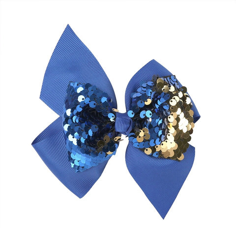 Reversible Sequin Grosgrain Bow with clip