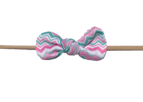 Nylon Knot Headband Chevron