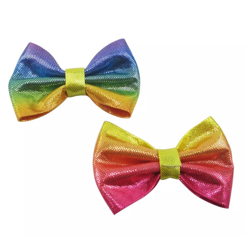 Medium Solid Soft Textured Bow - Multicolor