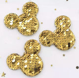 Reversible Sequin Padded Mouse Applique - Choose Your Color - shabbyflowers.com