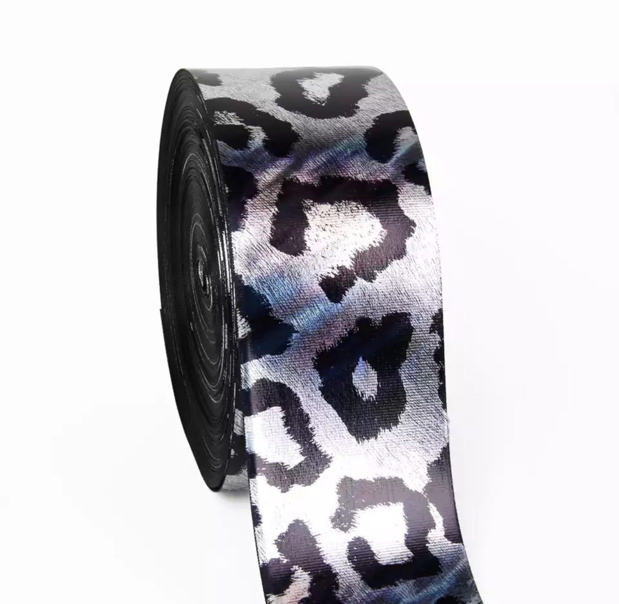 "3"" grosgrain ribbon - Metallic cheetah - shabbyflowers.com"