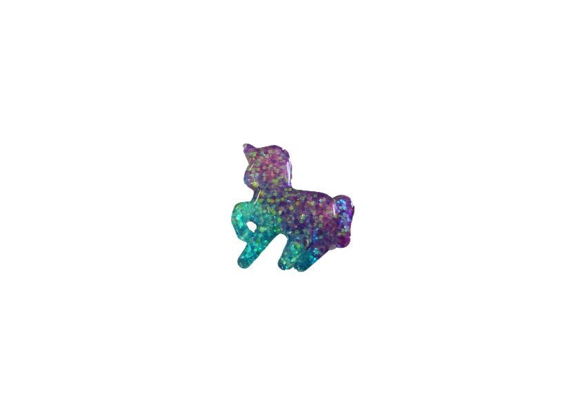 Unicorn resin - purple and blue glitter