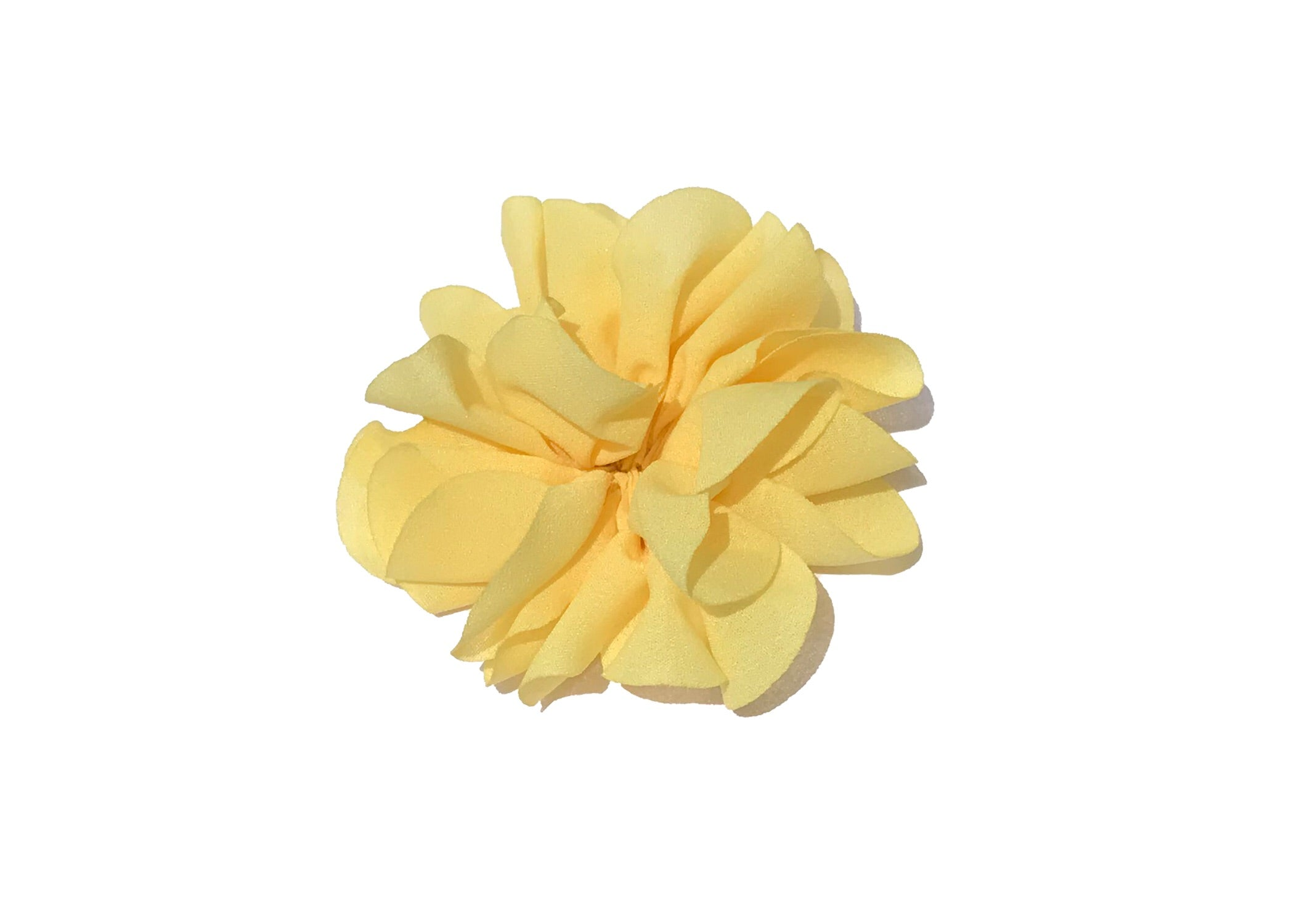 Large Scalloped Flower - Yellow - shabbyflowers.com