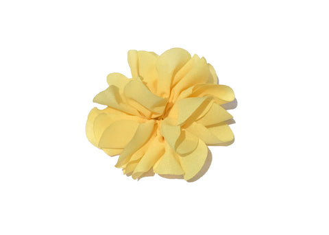 Large Scalloped Flower - Yellow