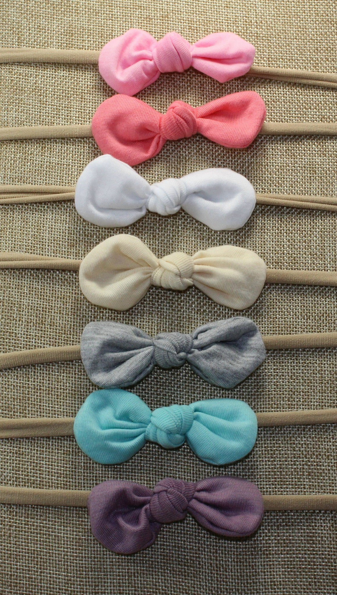 Nylon Knot Headband Pack of 7 - shabbyflowers.com