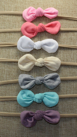 Nylon Knot Headband Pack of 7