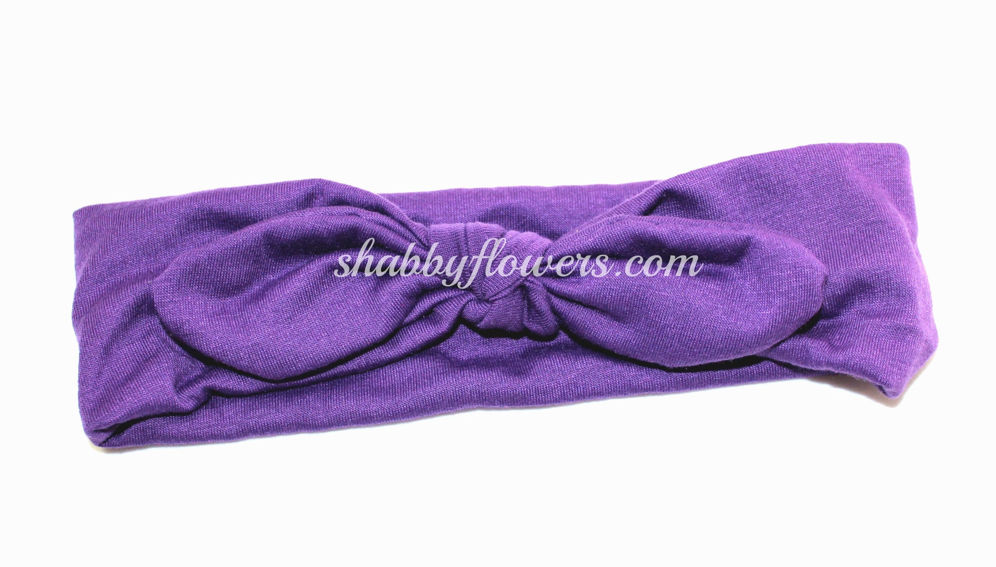 Knot Headband in Purple- Small - shabbyflowers.com