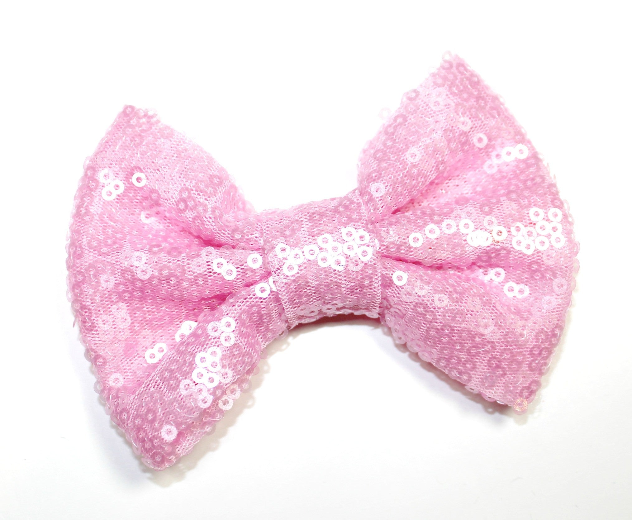 Large Sequin Bow - Light Pink - shabbyflowers.com