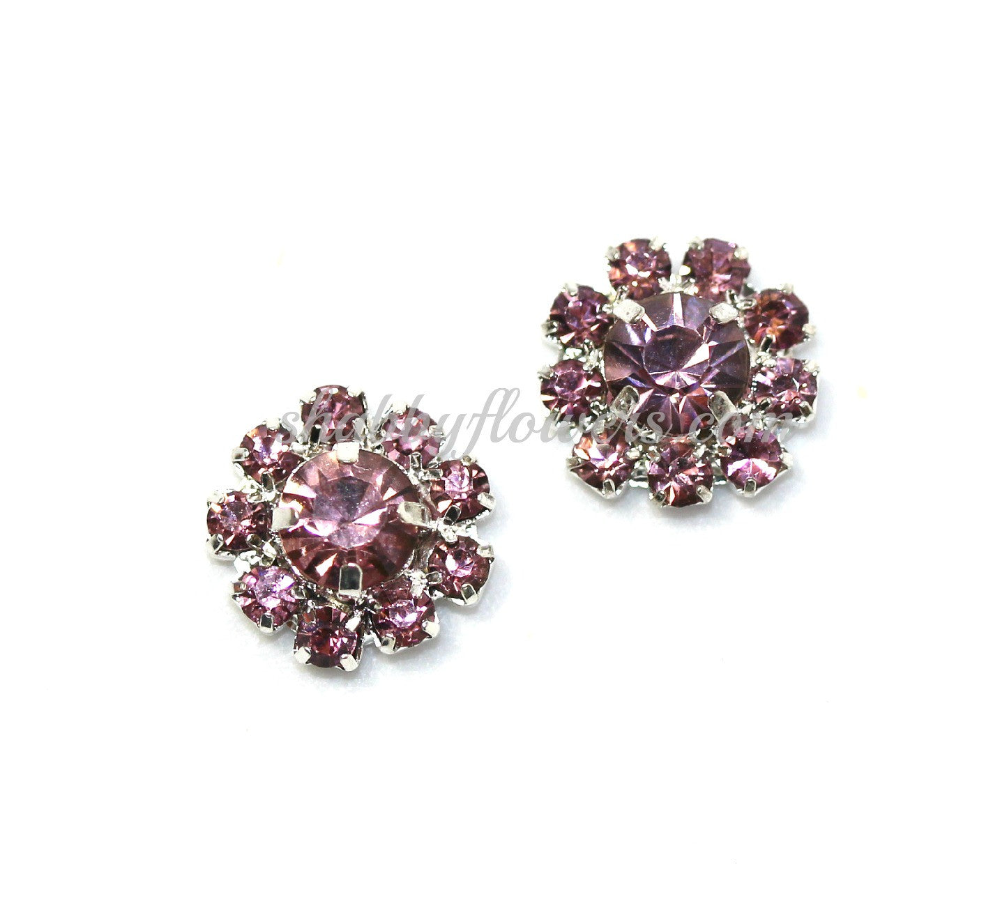 Embellishment - Small Rhinestone in LAVENDER - shabbyflowers.com