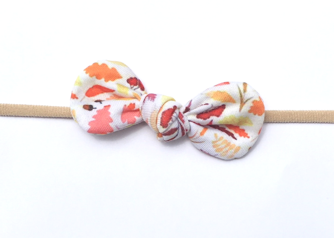 Nylon Knot Headband - Fall Leaves - shabbyflowers.com