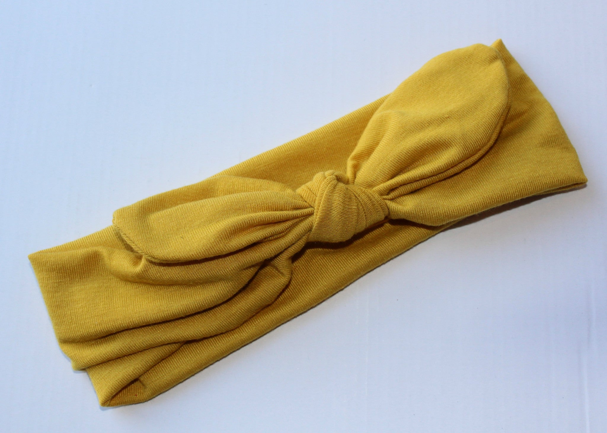Knot Headband in Mustard- Regular - shabbyflowers.com