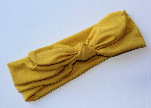 Knot Headband in Mustard- Regular