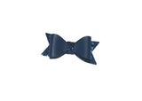 Faux Leather and Glitter Bow with Clip- Choose your color - shabbyflowers.com