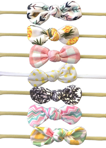 Nylon Knot Headband Pack of 7 - Prints