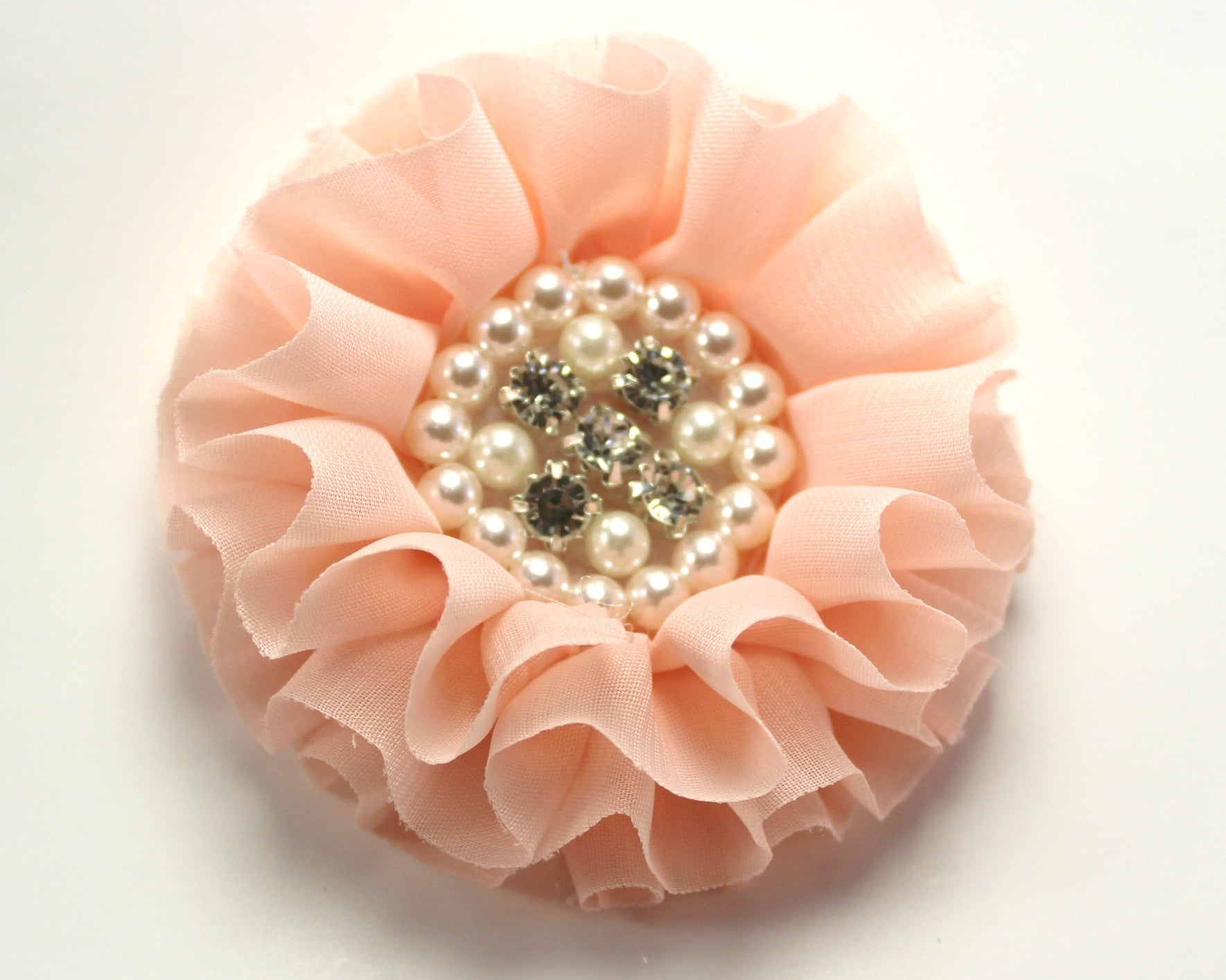 Jeweled Flower - Peach - shabbyflowers.com