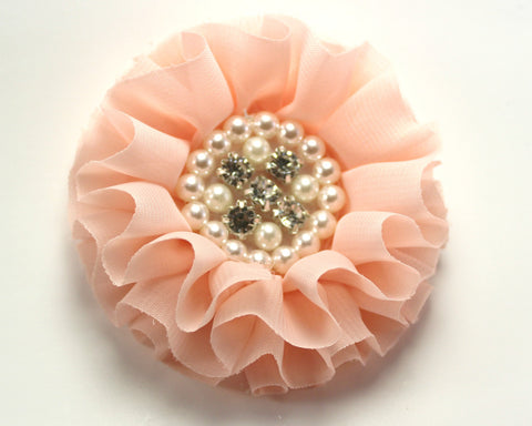 Jeweled Flower - Peach
