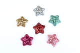 Glitter Padded Star Applique - Choose your color - shabbyflowers.com