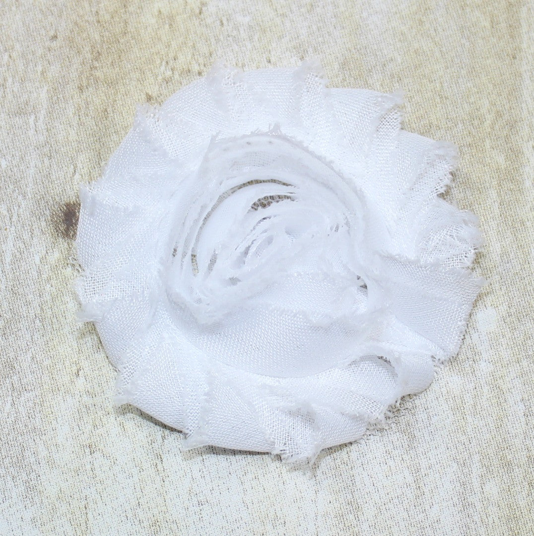 Shabby Flower - White - shabbyflowers.com