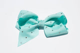 Rhinestone Grosgrain Bow - Mint - shabbyflowers.com